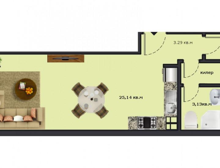 Вход А Етаж 1 Апартамент 1