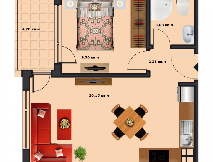 Вход А Етаж 4 Апартамент 14