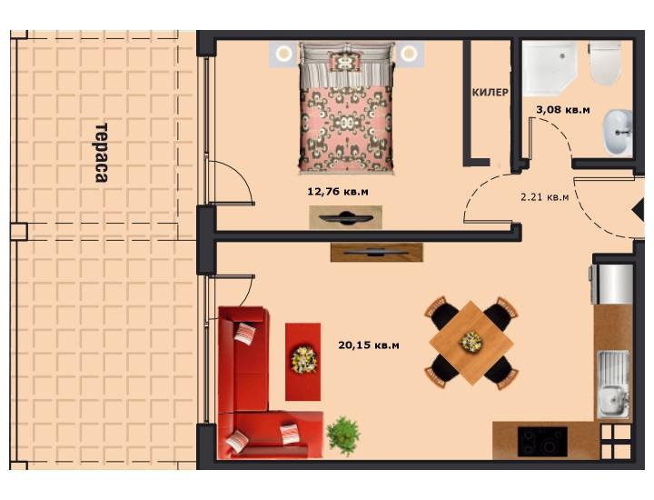 Вход А Етаж 1 Апартамент 2