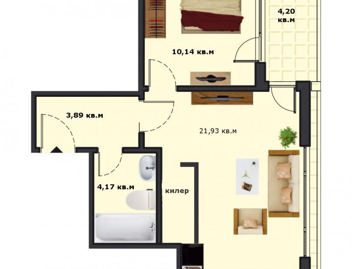 Вход А Етаж 5 Апартамент 20