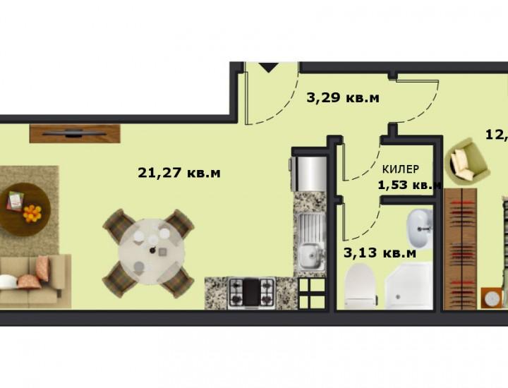 Вход А Етаж 6 Апартамент 21