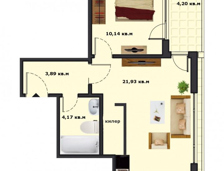 Вход А Етаж 6 Апартамент 24