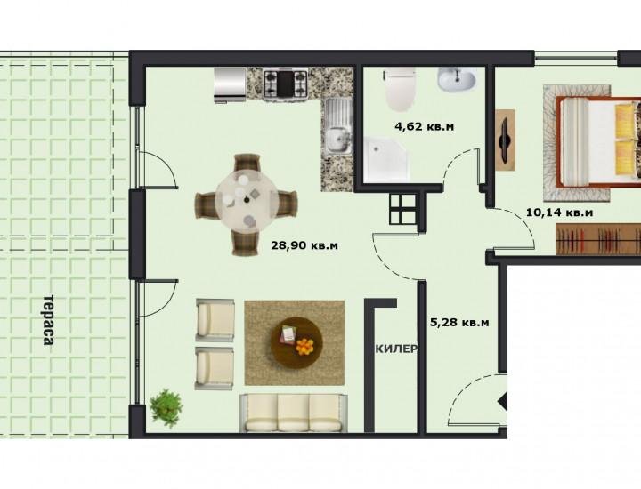Вход А Етаж 1 Апартамент 3