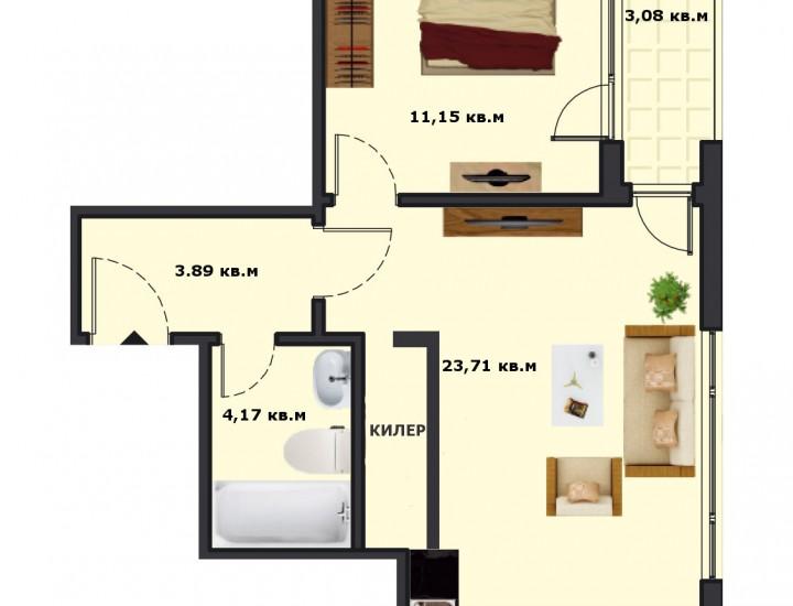 Вход А Етаж 1 Апартамент 4