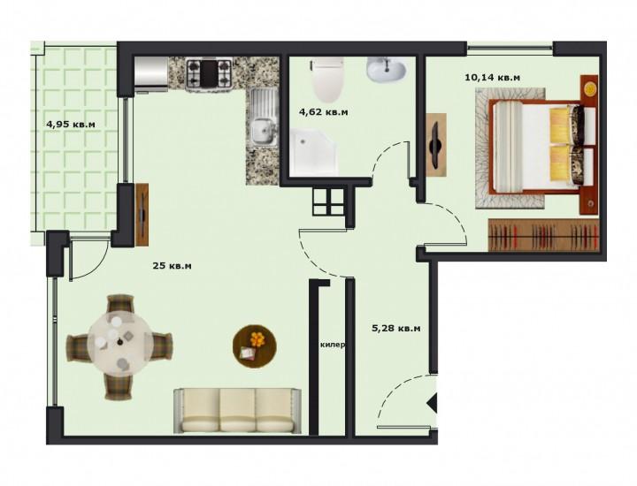 Вход А Етаж 2 Апартамент 7