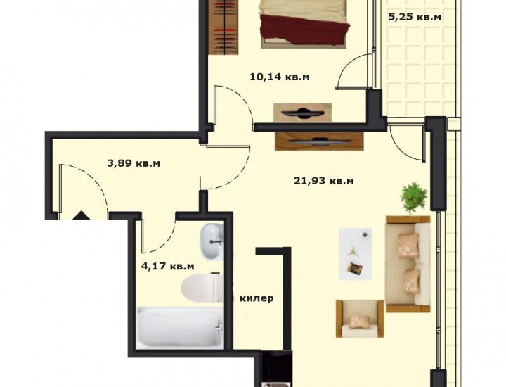 Вход А Етаж 2 Апартамент 8