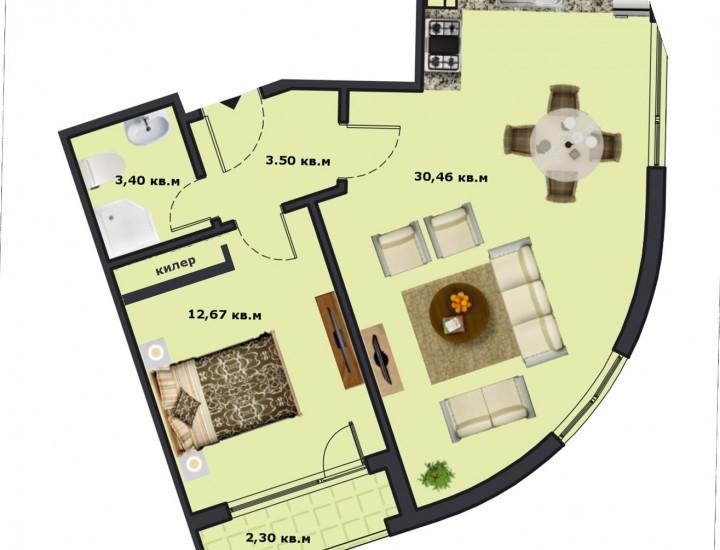 Вход Б Етаж 1 Апартамент 1