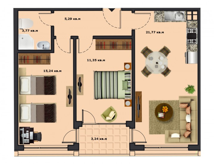 Вход Б Етаж 5 Апартамент 19
