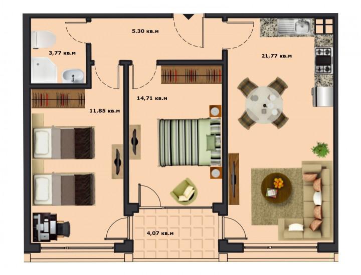 Вход Б Етаж 2 Апартамент 7