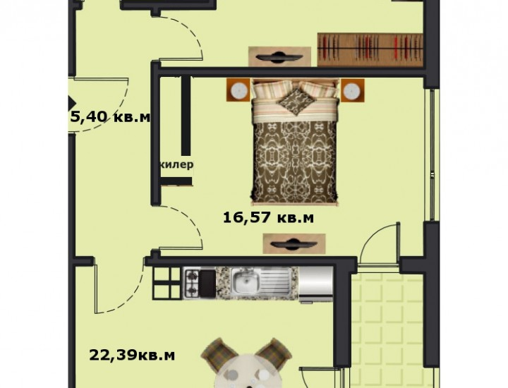 Вход В Етаж 1 Апартамент 1