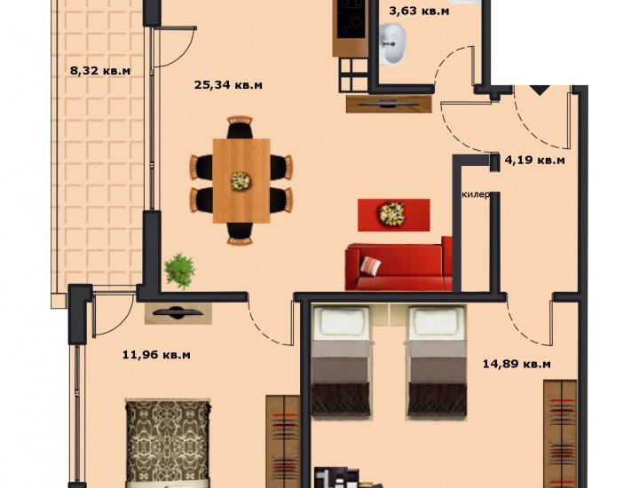 Вход В Етаж 3 Апартамент 10