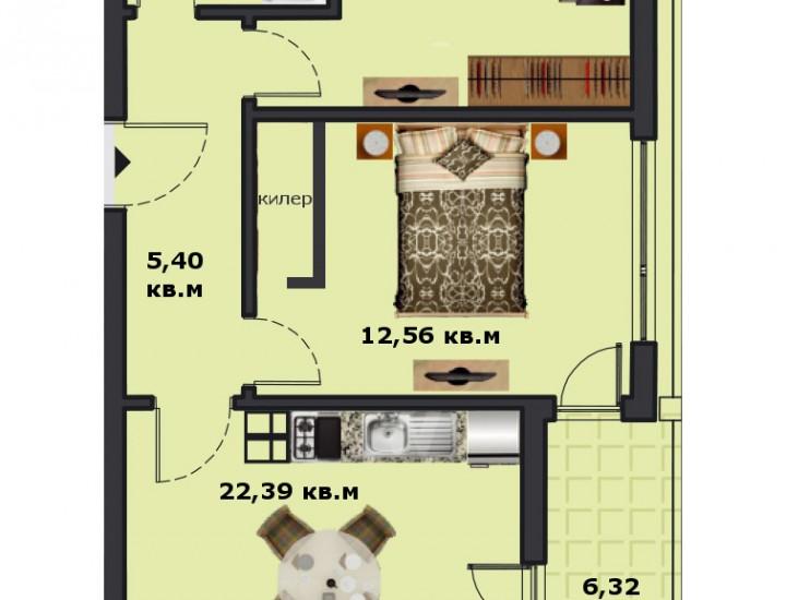Вход В Етаж 4 Апартамент 13