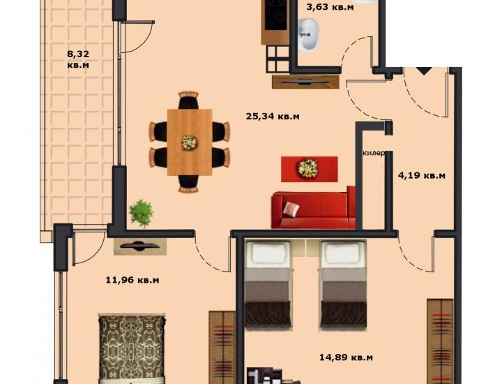 Вход В Етаж 4 Апартамент 14