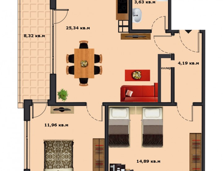 Вход В Етаж 5 Апартамент 18