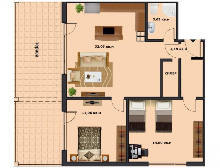 Вход В Етаж 1 Апартамент 2