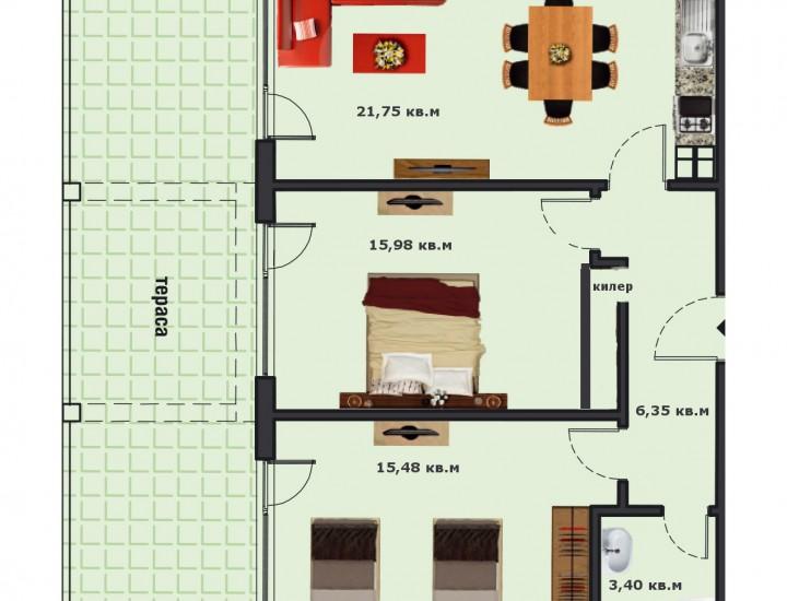 Вход В Етаж 1 Апартамент 3