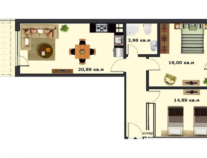 Вход В Етаж 1 Апартамент 4