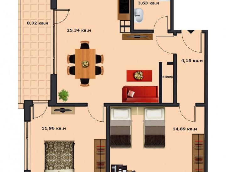 Вход В Етаж 2 Апартамент 6